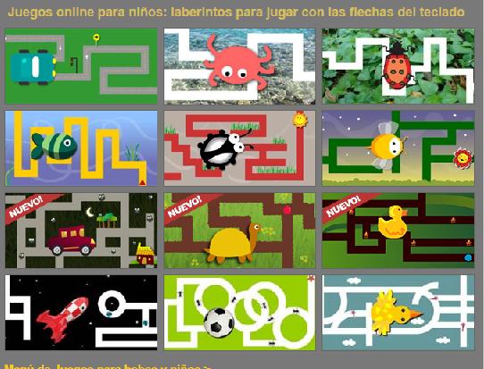 juegos jardin 2 -3 flechas del teclado