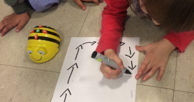 Conociendo los robots de suelo, jugando con Bee-bot nuestra amiga la abejita